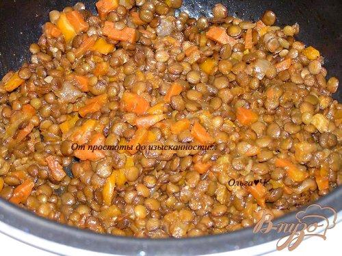 Чечевица с овощами в томатном соусе (в мультиварке)