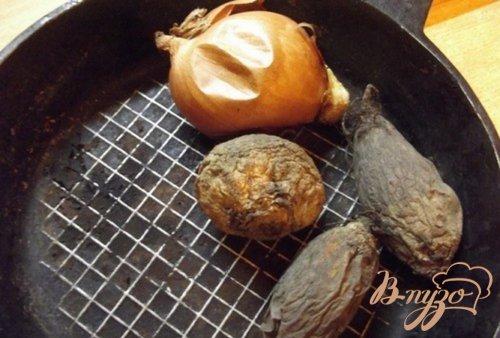 Борщ из печеных овощей