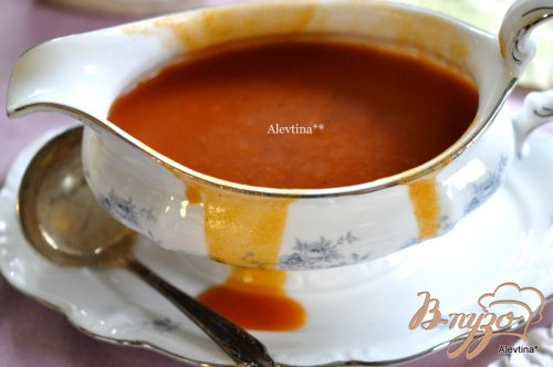 Говядина с красным соусом