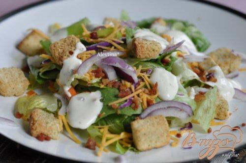 Домашний салат с беконом
