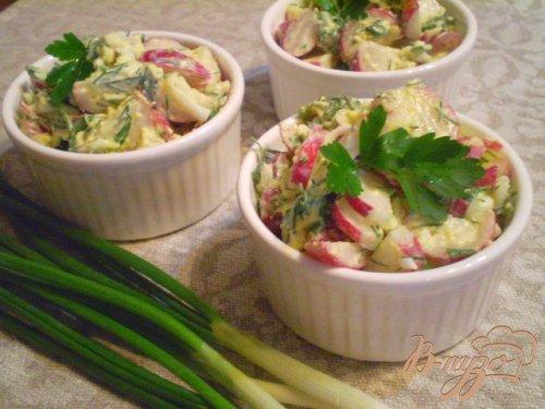 Редисковый салат со сметаной