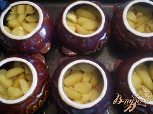 Рецепт приготовления картошки с грибами в горшочках