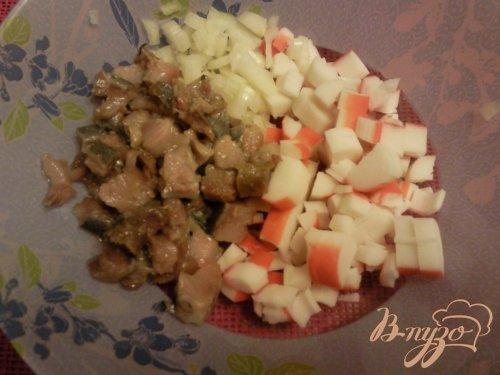 Салат из крабовых палочек и сельди