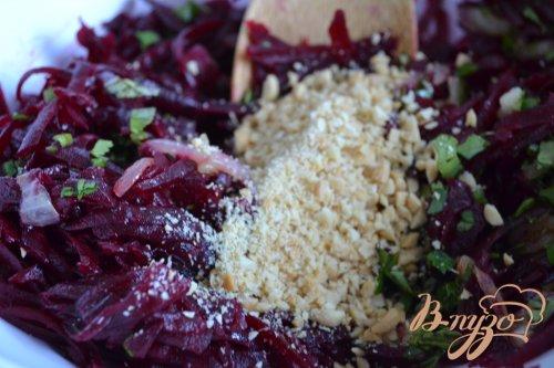 Острый свекольный салат с арахисом