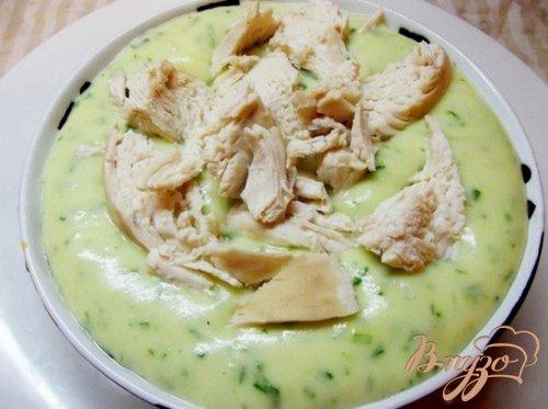 Картофельное пюре на мясном бульоне с зеленью