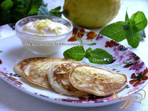 Оладьи с лимонным кремом