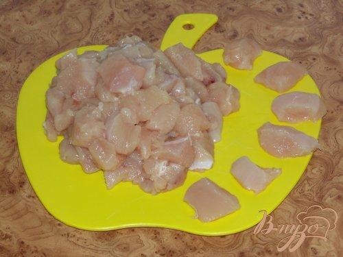 Быстрая фасоль в томате с куриным мясом