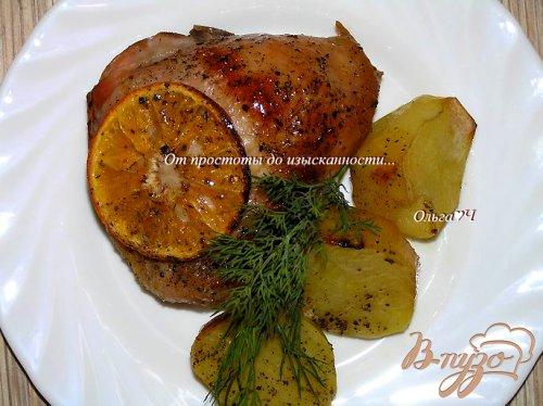 Курица с цитрусовыми и мятным сиропом