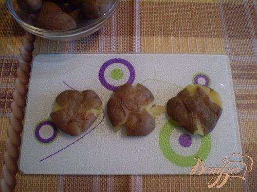 Картофель обжаренный с чесноком