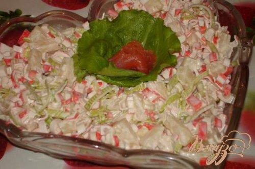 Салат от Натальи Варлей с луком-пореем
