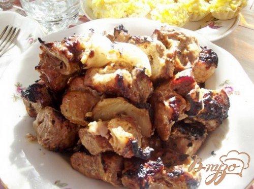 Шашлык из свиной шеи в горчичном маринаде