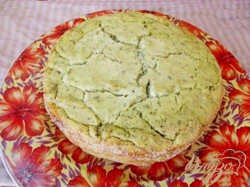Закусочная творожная запеканка с зеленью