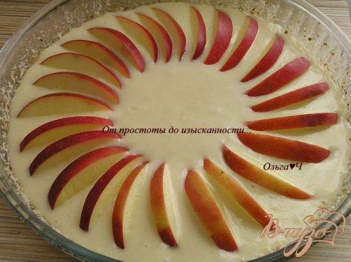 Постный манник с яблоками