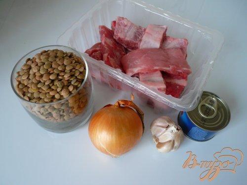 Чечевица со свиным рагу