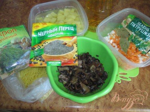 Суп грибной с маслятами и шампиньонами