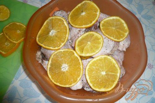 Куриные окорочка запеченные с апельсинами