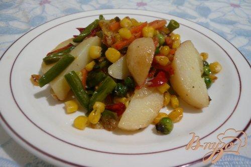 Теплый салат на скорую руку