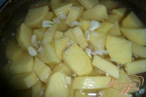 Картофель с рисом тушеный