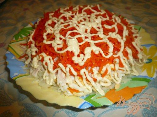 Салат из куриного мяса с морковью по-корейски