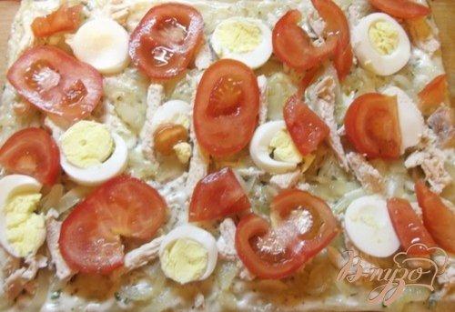 Легкая яичная пицца