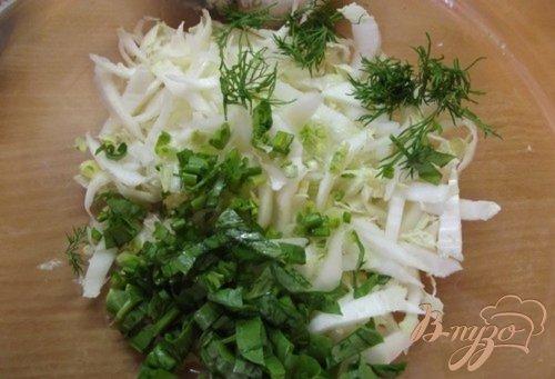 Салат порционный с черемшой