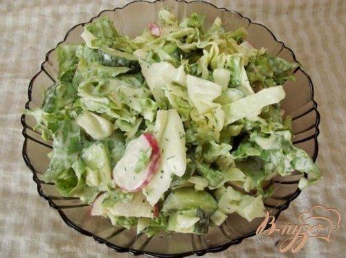 Салат с огуречным соусом