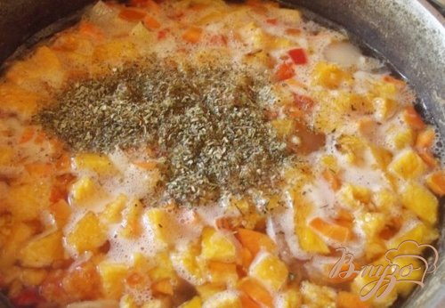 Суп ассорти с печеными овощами