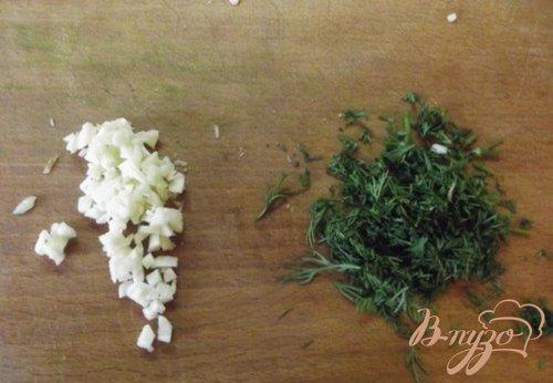 Чесночное масло с зеленью домашнее