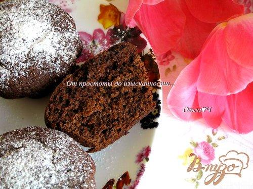 Шоколадно-черничные кексы