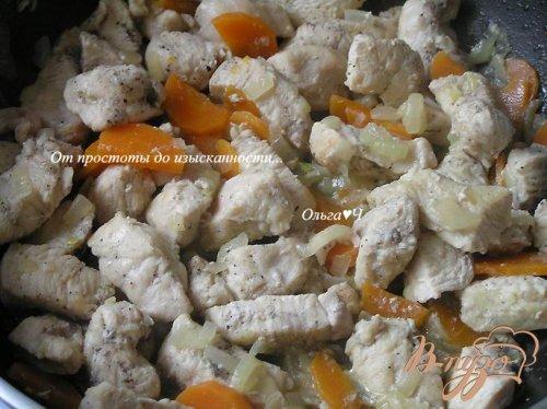 Веррины с курицей и малиновым джемом