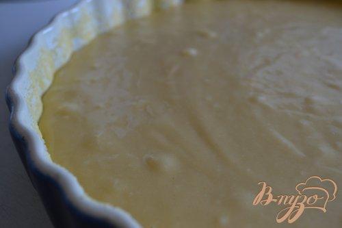 Бисквит на кокосовом молоке с грушами