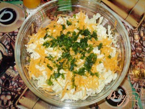 Капустный салат с кунжутом