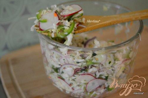 Салат с капустой и редисом по-мексикански