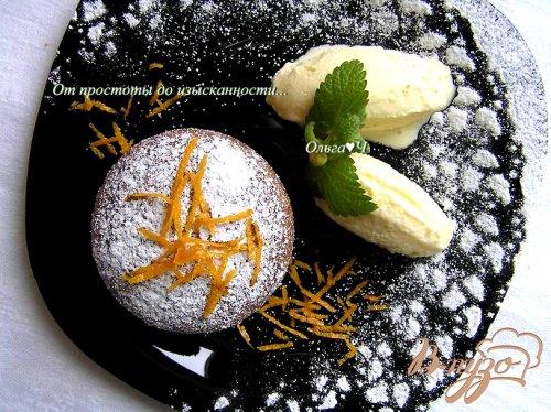 """Десерт """"Цитрусовый всплеск"""" или апельсиново-мандариновые брауни с лимонно-лаймовым мороженым"""