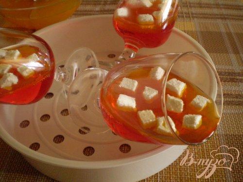 Желейный десерт с воздушным зефиром