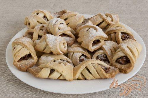 Печенье с яблоками и орехами