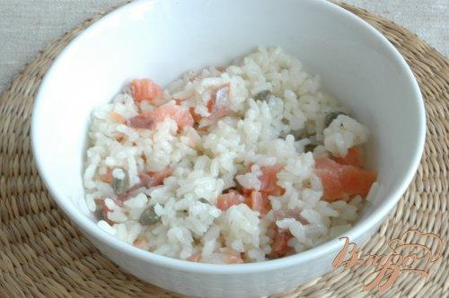 Рис с форелью и ароматным маслом