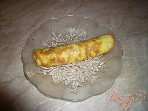 Омлет-ролл с куриным мясом