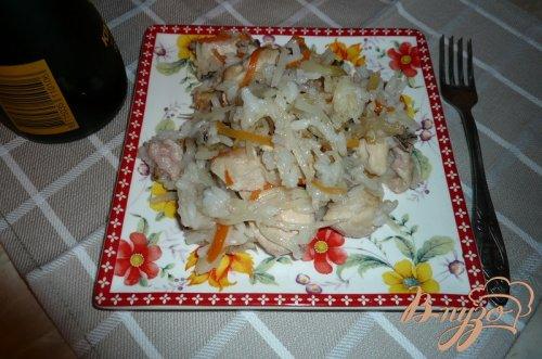 Рисовая каша с овощами и куриным мясом