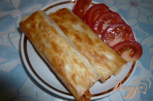 Рулетики из лаваша с сыром и сладким болгарским перцем