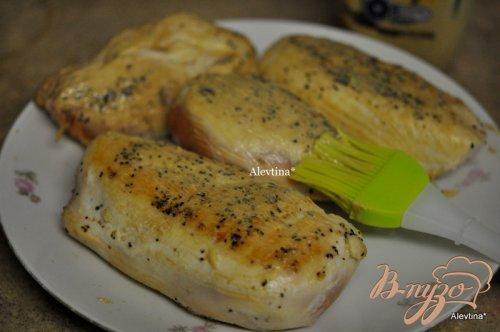 Куриные грудки с корочкой горчицы и фенхелем