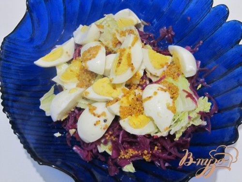 Салат из пекинской и краснокочанной капусты