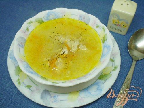 Овсяный суп на курином бульоне