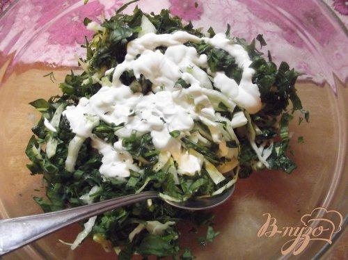 Весенний капустный салат