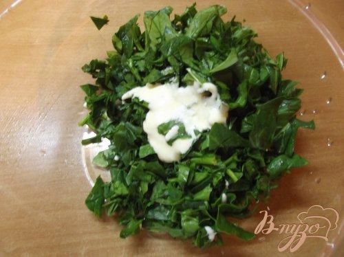 Салат с зеленым гороком