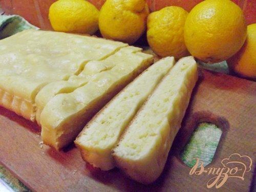 Лимонный пирог к чаю