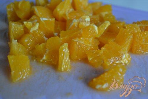 Салат с перловкой , апельсинами и авокадо