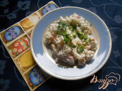 Рисовый салат с крабовым мясом