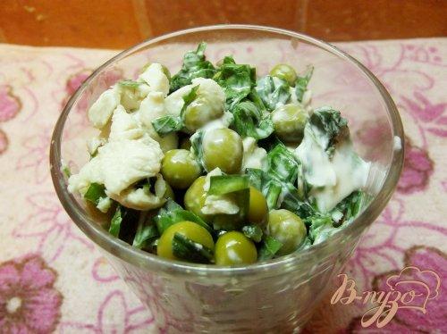 Куриный салат с зеленью