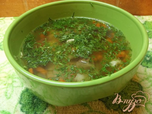 Суп с белыми грибами и овощами